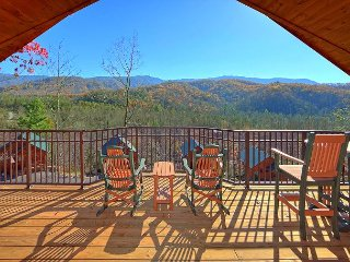 "Brand New 1 Bedroom Cabin with Jacuzzi, 4 Fireplaces and 55"" 3D TV w/Blu Ray - Gatlinburg vacation rentals"