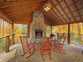 Cabin on the Creek!  4 Bedroom Luxury Cabin with outdoor fireplace! - Gatlinburg vacation rentals
