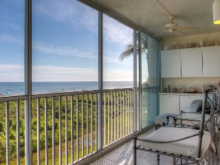 Surfside #111 - Direct Gulf-Front End Unit. 2 Lanais! 2BR (K/Q) 2BA Sleeps 4 - Sanibel Island vacation rentals