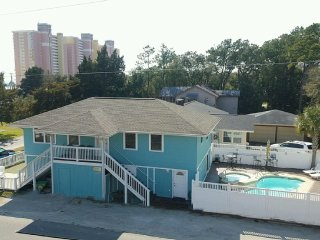 Beautiful 6 BR Oceanview House NEW SALT POOL & HOT - North Myrtle Beach vacation rentals