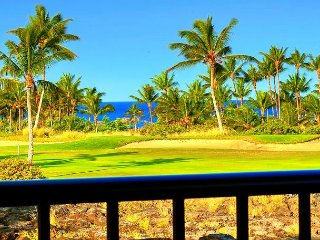 Shores Penthouse Villa 23 | 2 Ensuite | Golf-P. Ocean View | Lg Lanai w/BBQ - Waikoloa vacation rentals