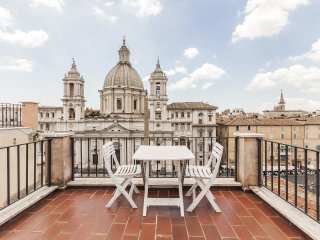 Penthouse, terraces, stunning view on Navona&Roofs - Rome vacation rentals
