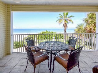 SeaSide 102 - Outstanding Gulf Front Three Bedroom Condo with Pool in 4-Plex! - Indian Rocks Beach vacation rentals