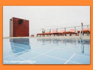 MODERNO DEPTO. 1 DORM. BALCON C/PISCINA GYM SAUNA - Lima vacation rentals