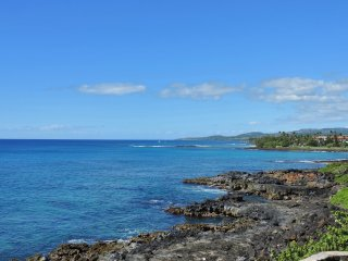 Poipu Shores 206A 2BR/2BA Fully Oceanfront Updated. Heated Pool - Poipu vacation rentals