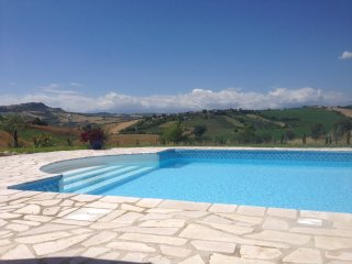 Villa with Pool and panoramic views sleeps 14 - Bellante vacation rentals