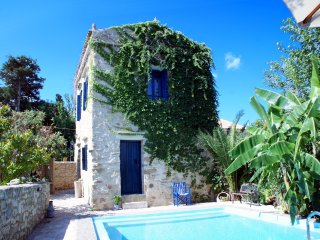 Beautiful cozy stone villa, private pool, see view - World vacation rentals