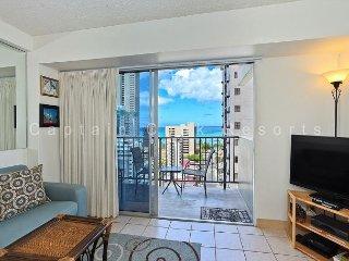 REMODELED!  Ocean View!  A/C, WiFi, 5 min. walk to beach. - Waikiki vacation rentals