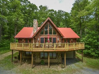 Centrally located log home with fire pit and expansive deck! - McHenry vacation rentals