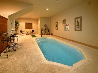 Amazing Indoor Pool Cabin - Pool Table, Hot Tub, Sauna, Covered Deck Sleeps 4 - Sevierville vacation rentals
