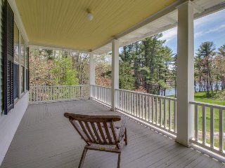Elegant and inviting plantation-style home with two levels of wrap-around decks - Boothbay Harbor vacation rentals