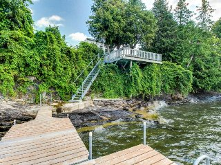 Lakefront home w/patio over the lake, private dock, stunning sunset views! - South Hero vacation rentals