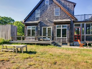 Gorgeous private home with outdoor shower and enclosed porch - West Tisbury vacation rentals