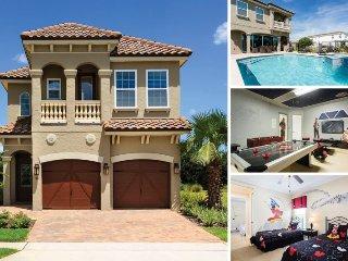 Showcase Villa | Luxury Pool Villa Featuring Two Disney Themed Bedrooms, Summer Kitchen, Pool Table, Air Hockey & Foosball - Kissimmee vacation rentals