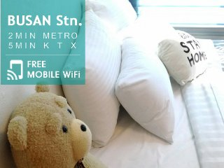 2min Busan Stn. 5min KTX Stn., Cozy Loft Duplex 1R - Busan vacation rentals