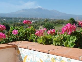 Three rooms Etna and sea view,garden, pool,wi-fi - Acireale vacation rentals
