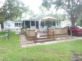 Park Model with lanai, large deck, block from pool - Venice vacation rentals