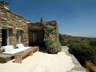 Architect's stone villa with amazing sea views - Korissia vacation rentals