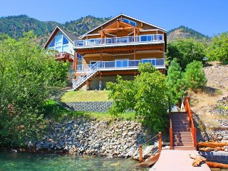 Stunning lakeside home with  private dock on Lake Chelan, spacious deck w/views! - Chelan vacation rentals