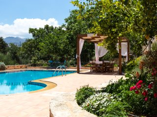 Villa Allaria - Large Pool, Great View & Garden - Skouloufia vacation rentals