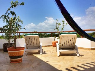 Penthouse Unit! New Low Rates!  2BR Tulum Condo w/Private Hot Tub within TAO Inspired Living Residential Community - Grand Bahia Principe. Minutes from the Beach! - Chacalal vacation rentals