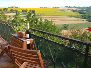 Apartment with balcony and stunning Umbrian views - Province of Perugia vacation rentals