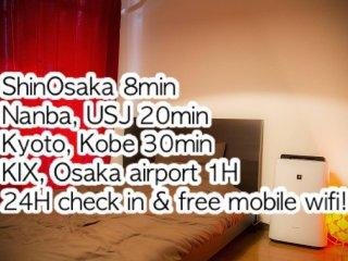 *3 ShinOsaka(8mins/walk)easy/Nanba - Osaka vacation rentals