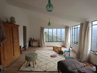 Rustic, modern stone house with panoramic views - Borghetto d'Arroscia vacation rentals