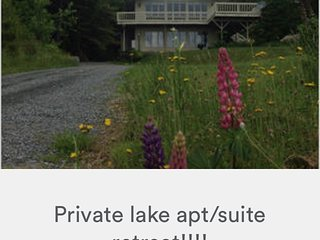 Private lake apt/suite retreat - Fairlee vacation rentals