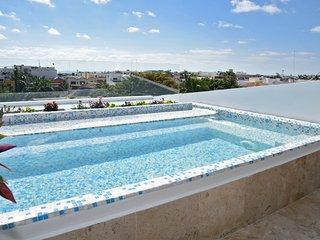 Ocean View 3 Bedroom Penthouse with Private Pool - sleeps 11 people - CF3B - Playa del Carmen vacation rentals