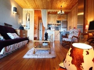 Nice Studio with Television and Central Heating - Pra Loup vacation rentals
