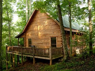 Secluded Log Cabin on organic farm, trout stream - Grassy Creek vacation rentals