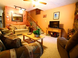 Valley Condos #113 - King Bed, WiFi, Washer/Dryer, Community Hot Tubs, Playground, Creek - Red River vacation rentals