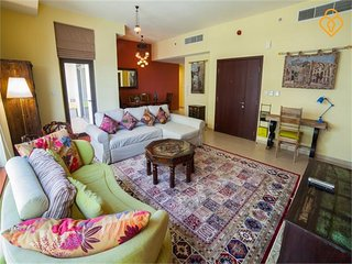 Upgraded Sea & Marina View 2 bed Amwaj JBR - Emirate of Dubai vacation rentals