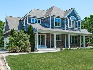 QUINJ - Newly Refurbished Contemporary Home, Beautifully Furnished,  Privately Situated with Large Yard and Wraparound Farmer's Porch, Dodger's Hole Area - Edgartown vacation rentals