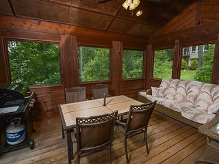 Stylish Chalet with Wraparound Deck & 3 Master Suites - Swanton vacation rentals