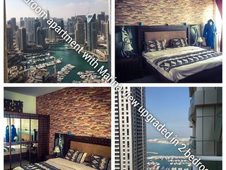 High floor 1 bedroom upgraded in 2 bedrooms - Dubai vacation rentals