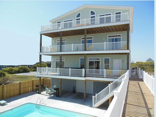 11br Luxury Oceanfront House Topsail Island NC - North Topsail Beach vacation rentals
