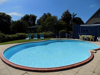 Farm house , own large garden and heated pool. - Gavray vacation rentals
