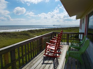Ocean Front Beach Cottage-180 degrees ocean view - Oak Island vacation rentals