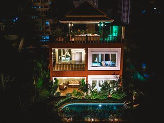 2bdr Arabella villa, pool & roof top jacuzzi 227 - Pattaya vacation rentals