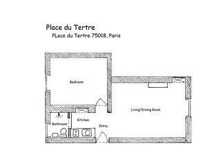 PerfectlyParis Place du Tertre sleeps 3 - Paris vacation rentals