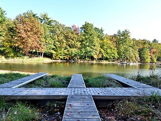 Level lake front & fire pit on 1+Acres! - Swanton vacation rentals