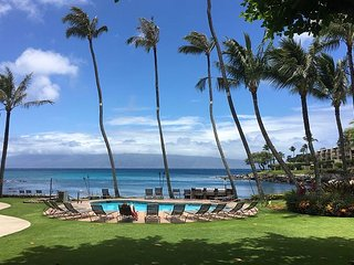 OCEANFRONT HONOKEANA COVE! SWIM WITH THE MANY TURTLES! LOWER, CORNER UNIT 2BR - Lahaina vacation rentals