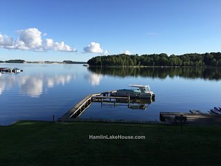Family Fun on Hamlin Lakefront!  Sleeps 12+ - Ludington vacation rentals