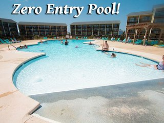 Surf Condo 614 | Zero Entry Pool....just a gradual slope to deeper & deeper h20 - Surf City vacation rentals