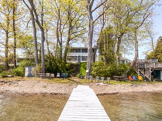 Simple & Relaxing 4BR Seneca Lake House w/Wifi, Screened Porch & Private Dock - Situated on a Quiet Beach Near Wine Country, Niagara Falls & More! - Penn Yan vacation rentals