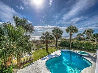 FREE POOL HEAT & 6 BIKES!* Oceanfront Home, Private Gazebo, Pool & Hot Tub - Hilton Head vacation rentals