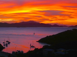Spectacular Views Day & Eve in Treetop Apartment - Cruz Bay vacation rentals