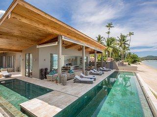 Villa Pavana with private pool, beachfront, chef - Laem Set vacation rentals